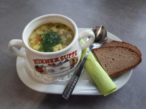 immer wieder eine andere Suppe.